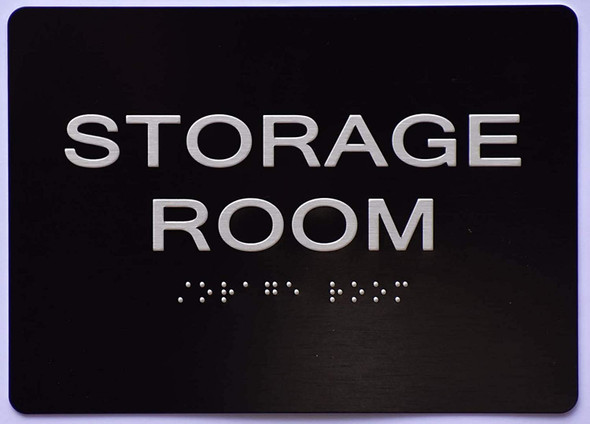 Storage Room  Signage -Black,