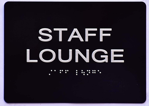 Staff Lounge  Signage -Black,