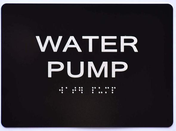 Water Pump  Signage -Black,