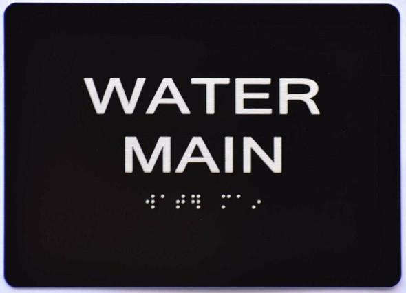 Water Main  Signage -Black,