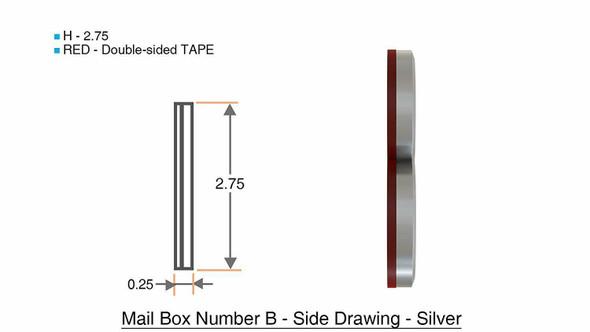 1 PCS - Apartment Number /Mailbox Number , Door Number . Letter B ,3D