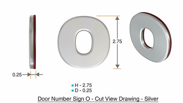 1 PCS - Apartment Number /Mailbox Number , Door Number . Letter O ,3D