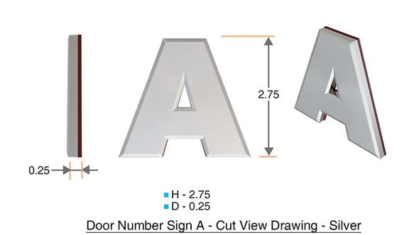 1 PCS - Apartment Number /Mailbox Number , Door Number . Letter 2A ,3D