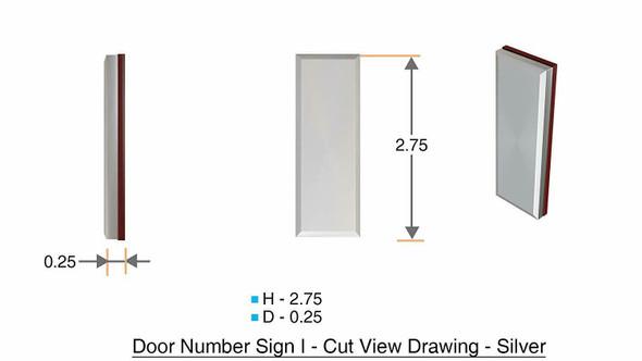 1 PCS - Apartment Number /Mailbox Number , Door Number . Letter I ,3D