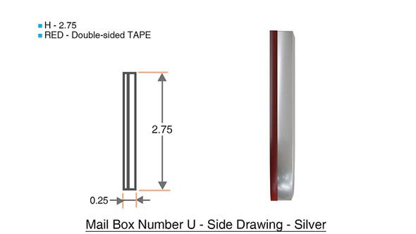 1 PCS - Apartment Number /Mailbox Number , Door Number . Letter U ,3D