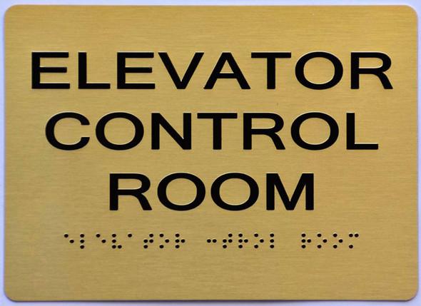 Elevator Control Room  Signage -,