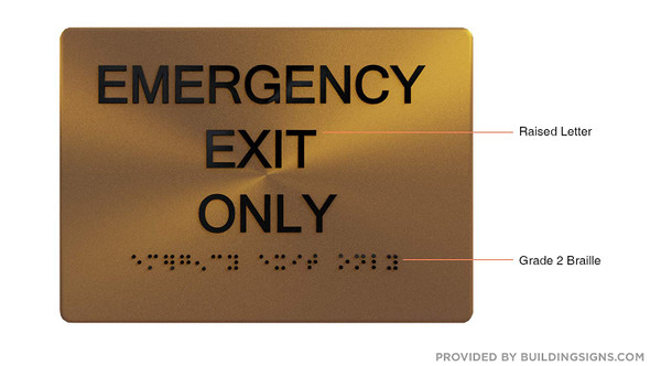 Emergency EXIT ONLY -,
