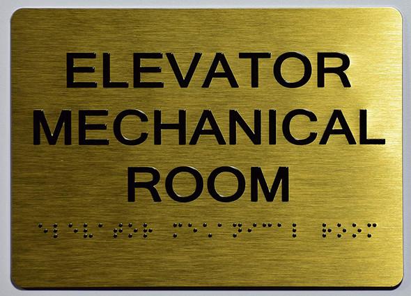 Elevator Mechanical Room  Signage-