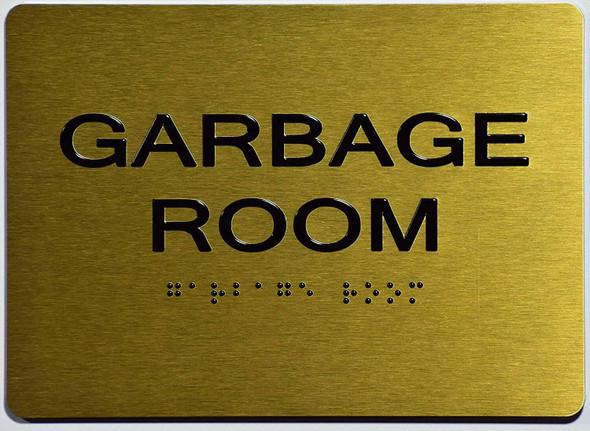 Garbage Room  Signage - ,