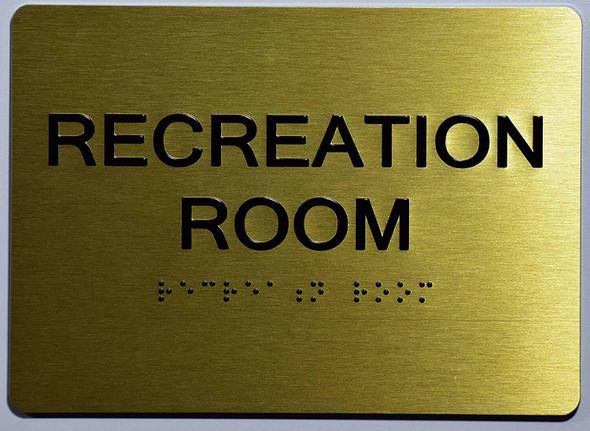 Recreation Room  Signage- ,