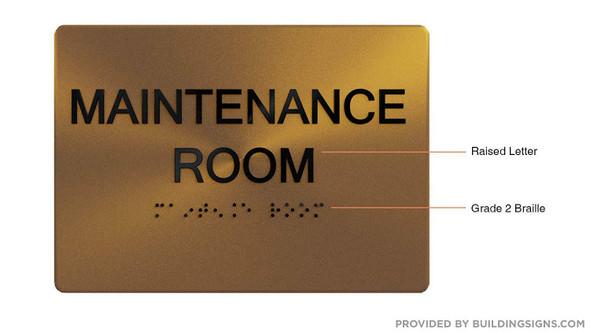 Maintenance Room  Signage- ,