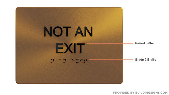 NOT an EXIT - ,