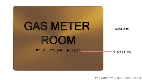Gas Meter Room  Signage - ,