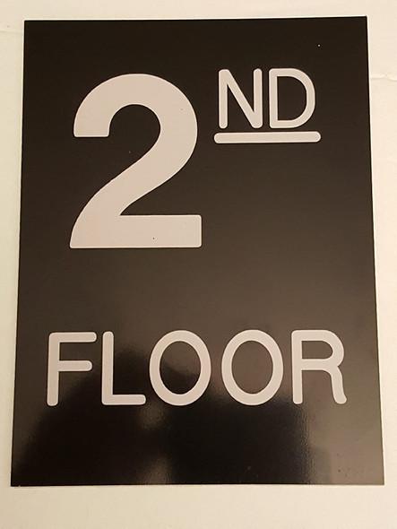 Floor number  -Two 2 Engraved Plastic-