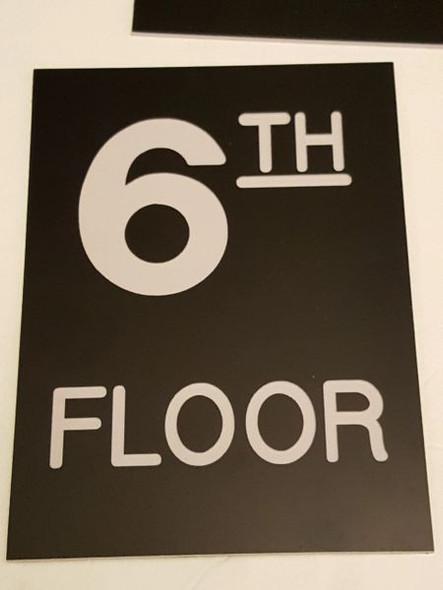 Floor number Six 6  Engraved Plastic-
