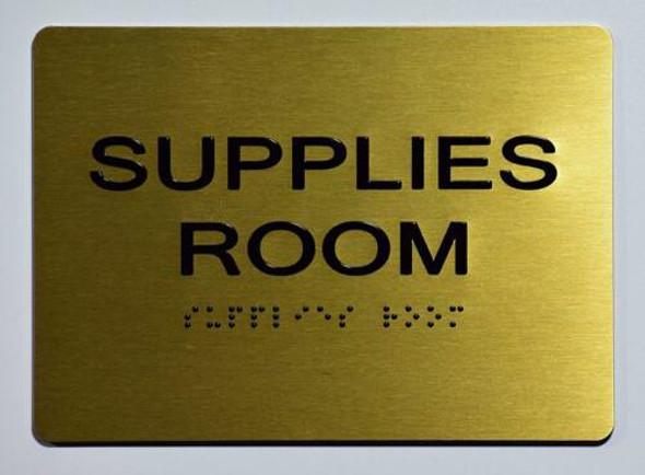 Supplies Room  Signage - ,