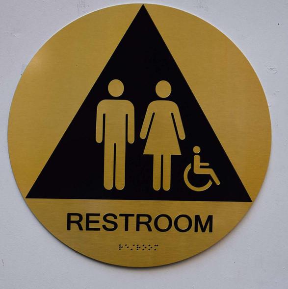 Unisex ACCESSIBLE Restroom CA 128-ADA- Sign