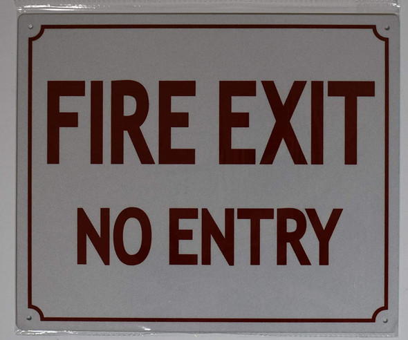 FIRE EXIT NO Entry
