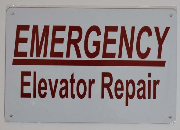 Emergency Elevator Repair  Signage