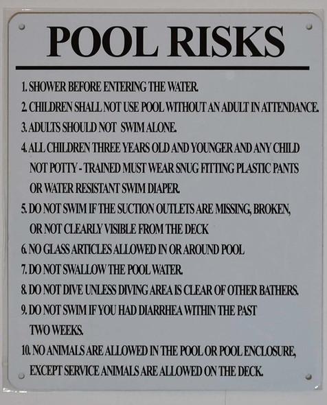 Pool Risks  Signage