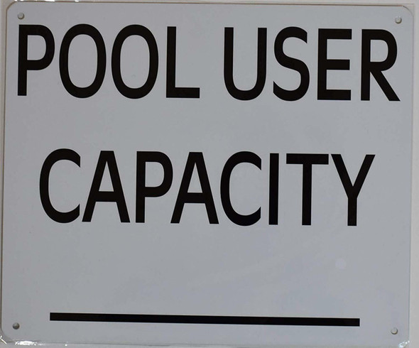 Pool User Capacity  Signage