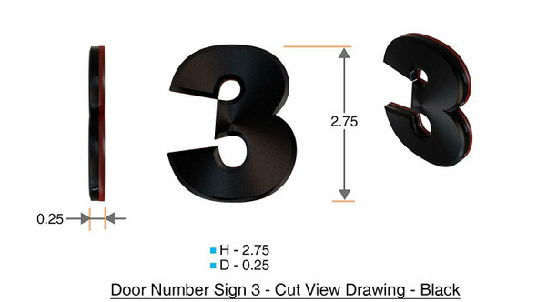 Apartment Number /Mailbox Number , Door Number . Number 3