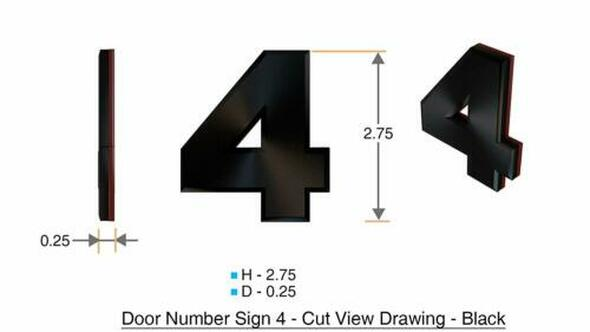 Apartment Number /Mailbox Number , Door Number . Number 4