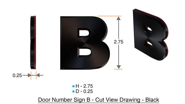 1 PCS - Apartment Number /Mailbox Number , Door Number . Letter B