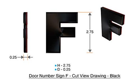 1 PCS - Apartment Number /Mailbox Number , Door Number . Letter F