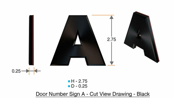 1 PCS - Apartment Number /Mailbox Number , Door Number . Letter A