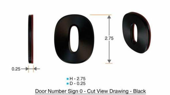 Apartment Number  Signage/Mailbox Number  Signage, Door Number  Signage. Number 0
