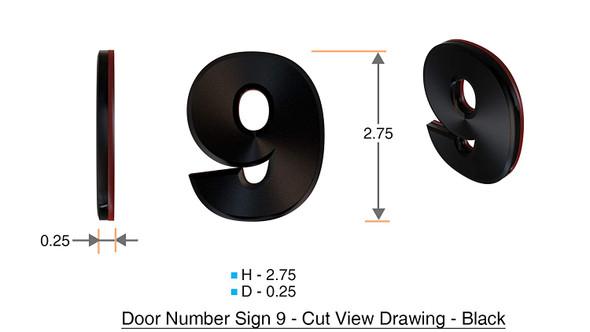 Apartment Number /Mailbox Number , Door Number . Number 9