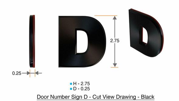 1 PCS - Apartment Number /Mailbox Number , Door Number . Letter D