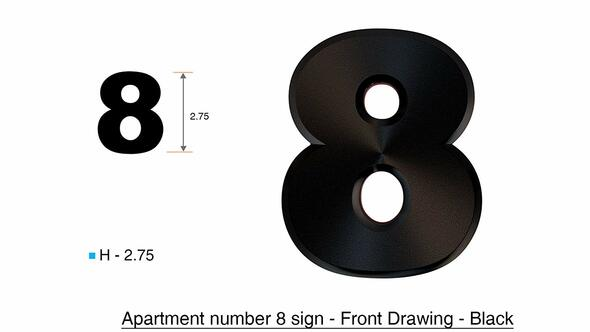 Apartment Number /Mailbox Number , Door Number . Number 8