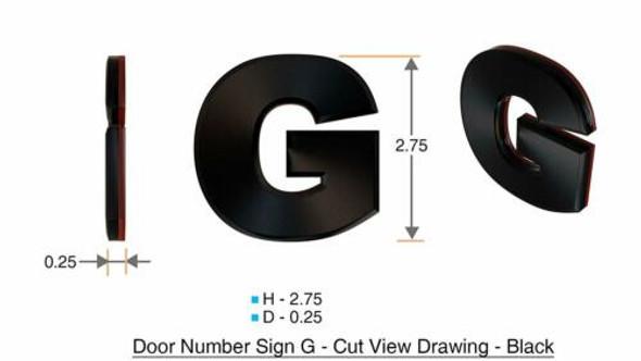 1 PCS - Apartment Number /Mailbox Number , Door Number . Letter G