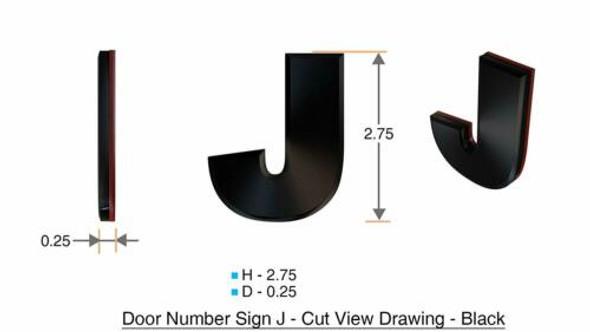 1 PCS - Apartment Number /Mailbox Number , Door Number . Letter J
