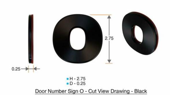 1 PCS - Apartment Number /Mailbox Number , Door Number . Letter O