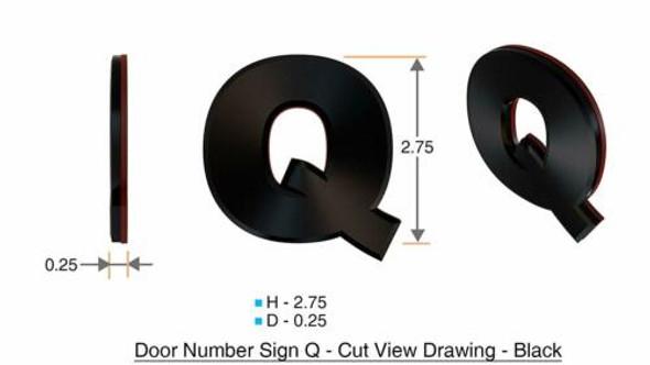 1 PCS - Apartment Number /Mailbox Number , Door Number . Letter Q