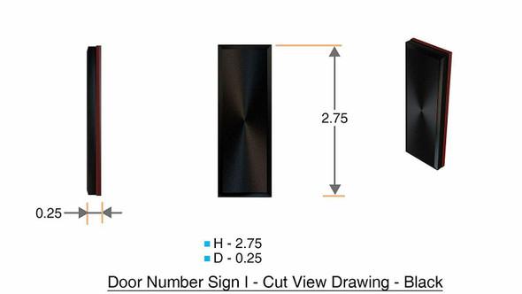 1 PCS - Apartment Number /Mailbox Number , Door Number . Letter I