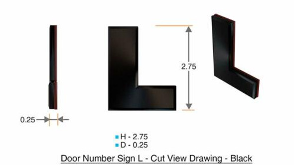1 PCS - Apartment Number /Mailbox Number , Door Number . Letter L