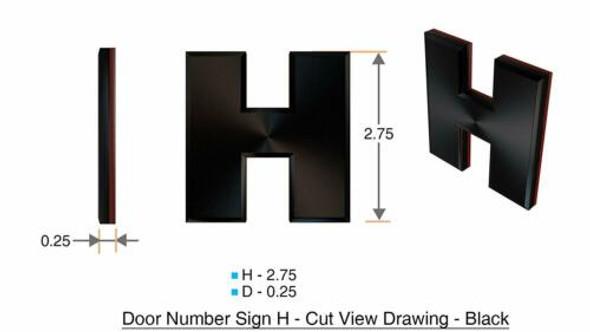 1 PCS - Apartment Number /Mailbox Number , Door Number . Letter H