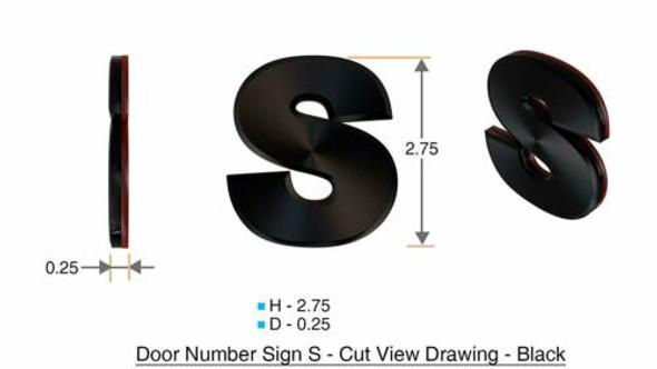 1 PCS - Apartment Number /Mailbox Number , Door Number . Letter S