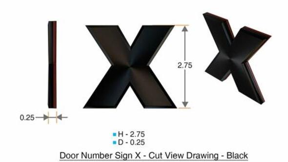1 PCS - Apartment Number /Mailbox Number , Door Number . Letter X