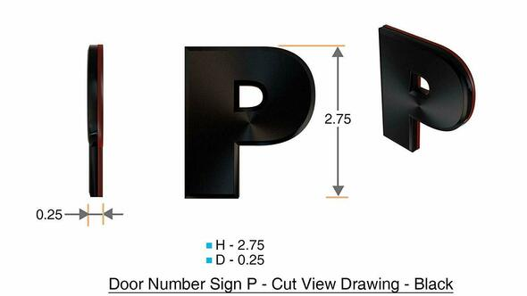 1 PCS - Apartment Number /Mailbox Number , Door Number . Letter P