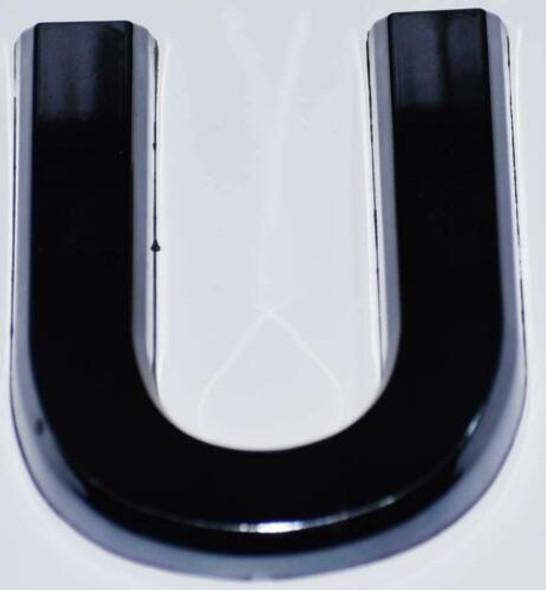 1 PCS - Apartment Number  Signage/Mailbox Number  Signage, Door Number  Signage. Letter U