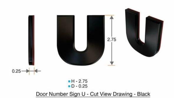 1 PCS - Apartment Number /Mailbox Number , Door Number . Letter U