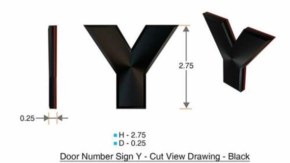 1 PCS - Apartment Number /Mailbox Number , Door Number . Letter Y
