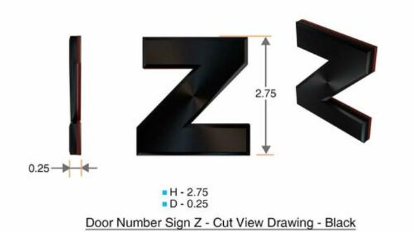 1 PCS - Apartment Number /Mailbox Number , Door Number . Letter Z
