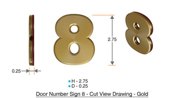Apartment Number /Mailbox Number , Door Number . Number 8 ,3D,