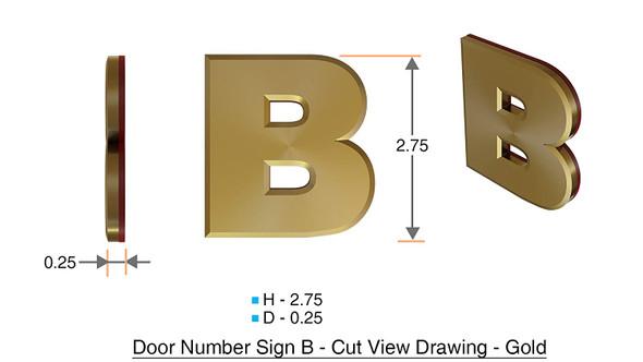 1 PCS - Apartment Number /Mailbox Number , Door Number . Letter B ,